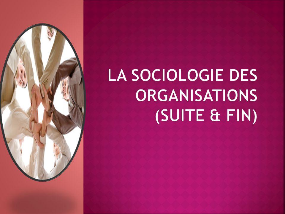 La Sociologie Des Organisations (suite & fin)