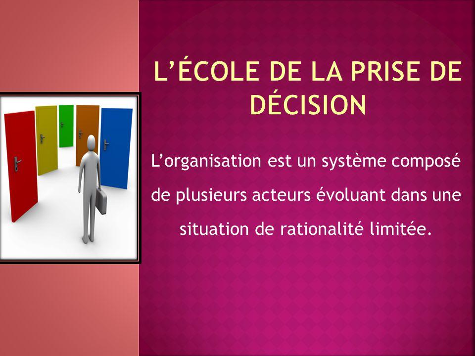 L'école de la prise de décision