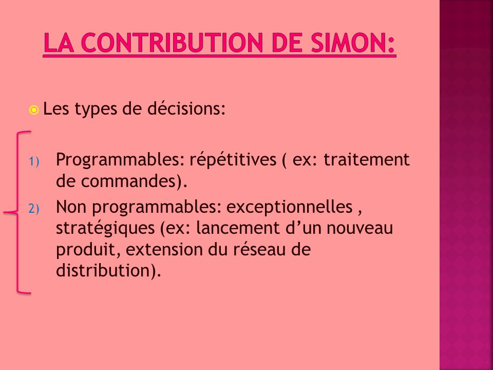 La contribution de Simon: