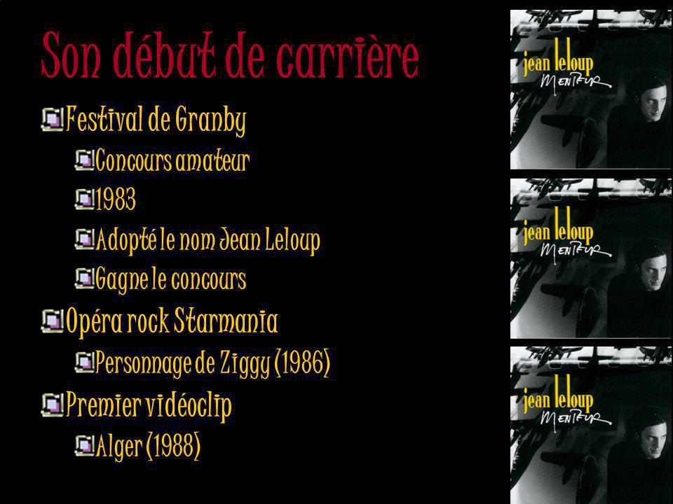 Son début de carrière Festival de Granby Opéra rock Starmania
