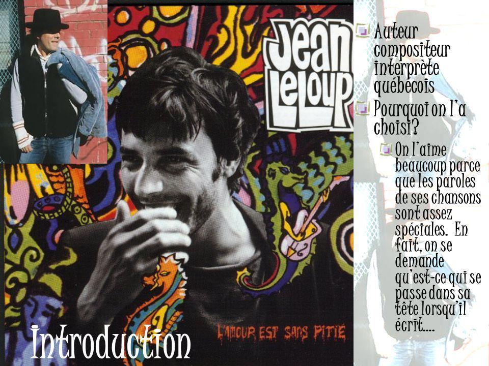 Introduction Auteur compositeur interprète québécois
