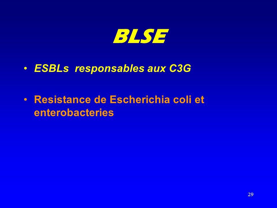 BLSE ESBLs responsables aux C3G
