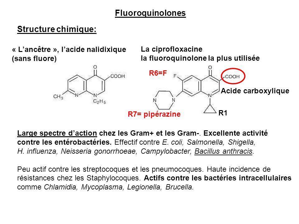 Fluoroquinolones Structure chimique: