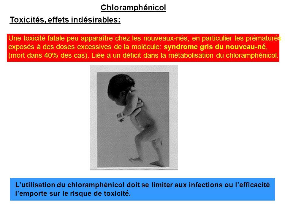 Toxicités, effets indésirables: