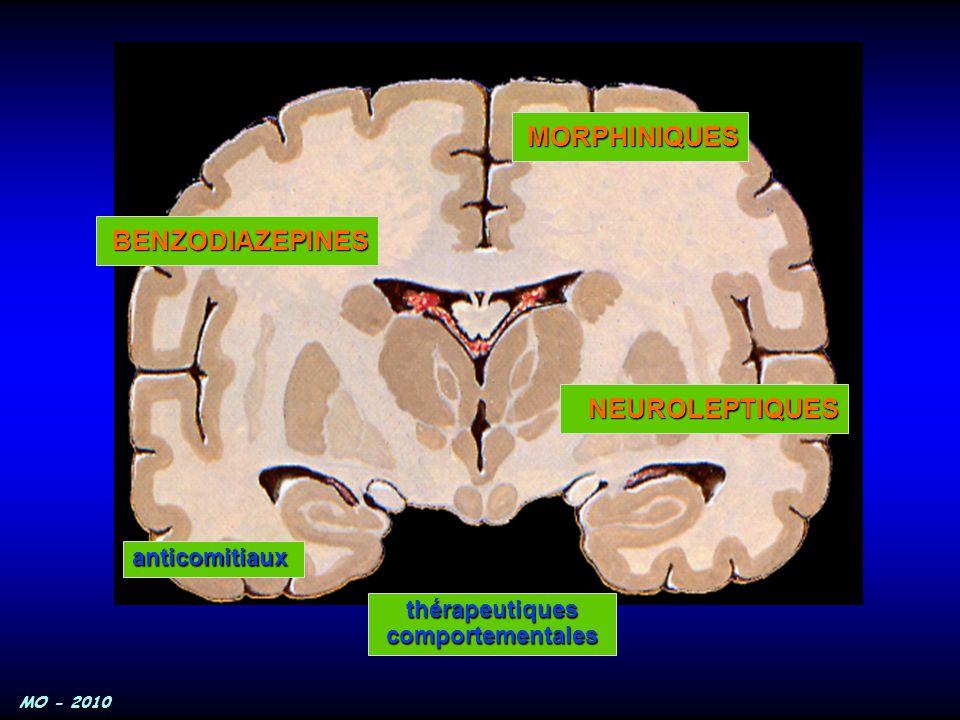 MORPHINIQUES BENZODIAZEPINES NEUROLEPTIQUES anticomitiaux