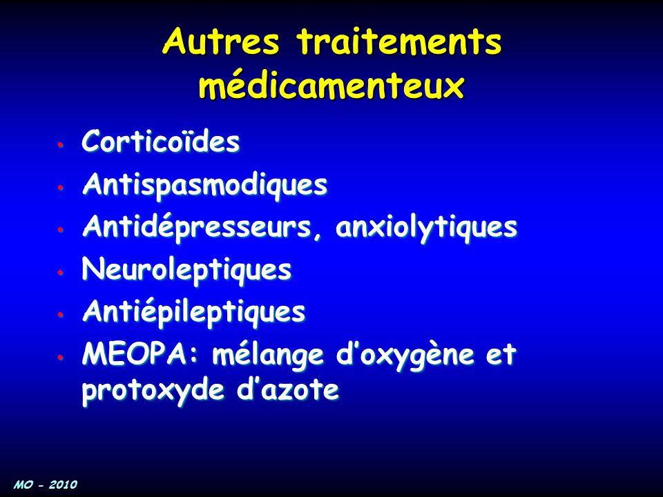 Autres traitements médicamenteux