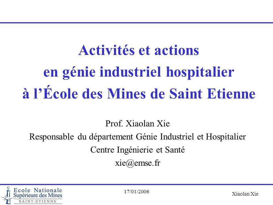 en génie industriel hospitalier à l'École des Mines de Saint Etienne