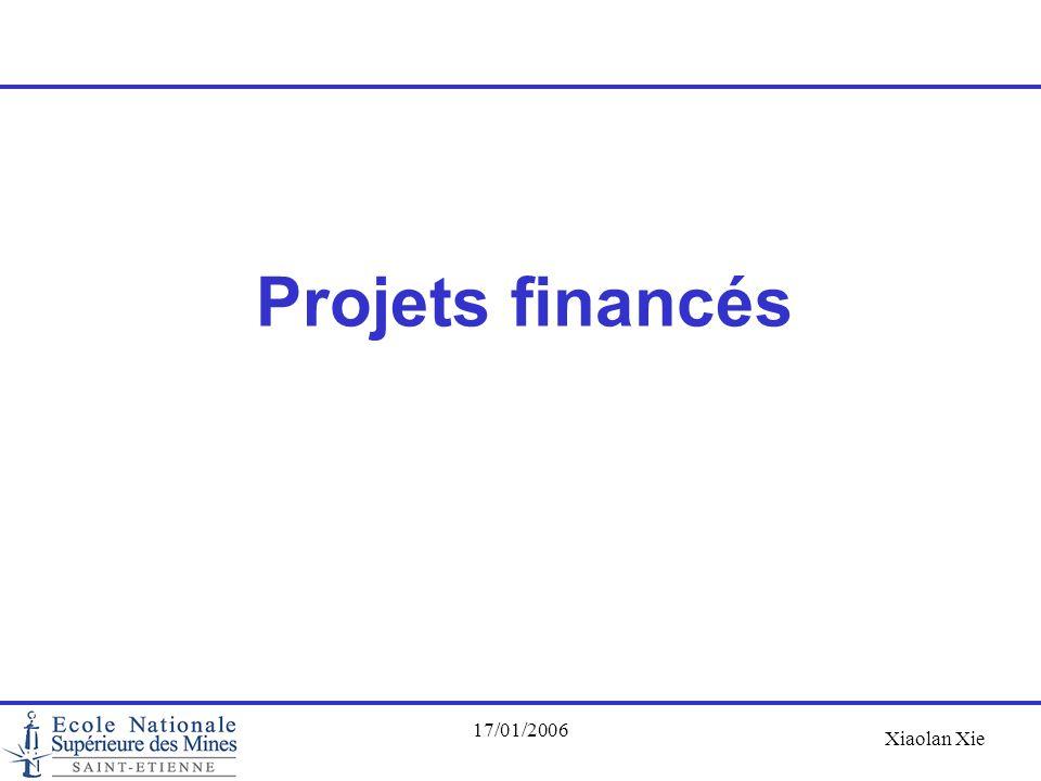 Projets financés 17/01/2006