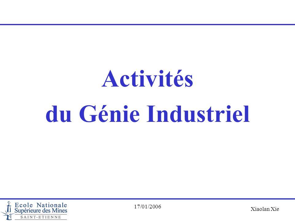 Activités du Génie Industriel