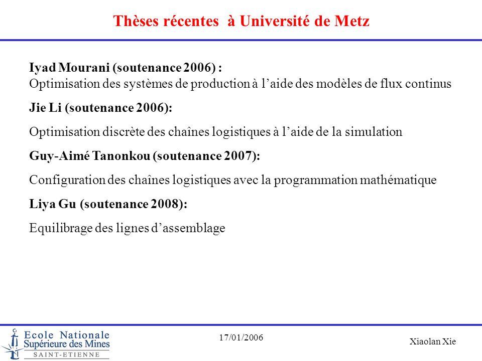 Thèses récentes à Université de Metz