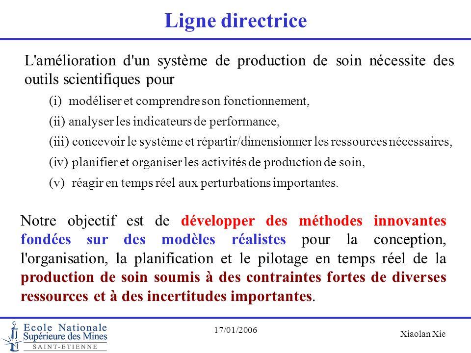 Ligne directrice L amélioration d un système de production de soin nécessite des outils scientifiques pour.
