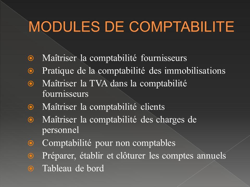 MODULES DE COMPTABILITE