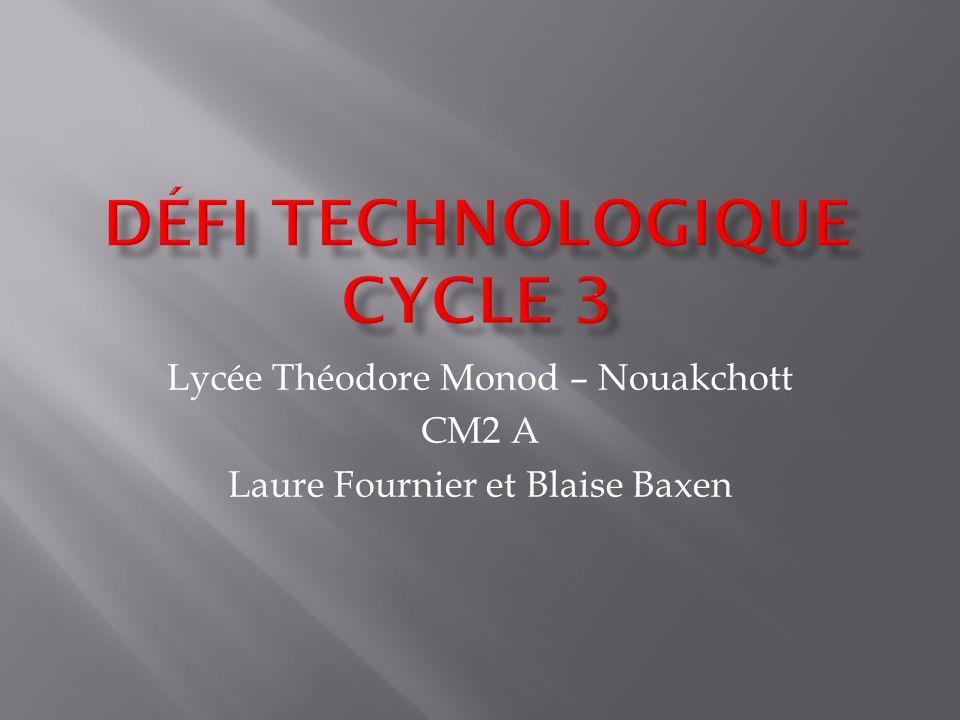 DÉFI TECHNOLOGIQUE CYCLE 3