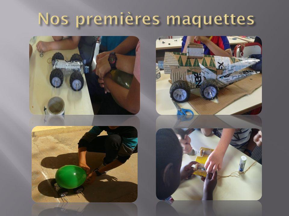 Nos premières maquettes
