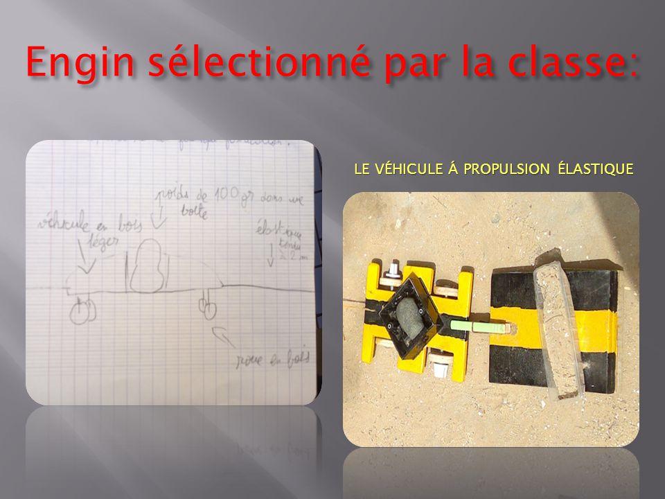 Engin sélectionné par la classe: