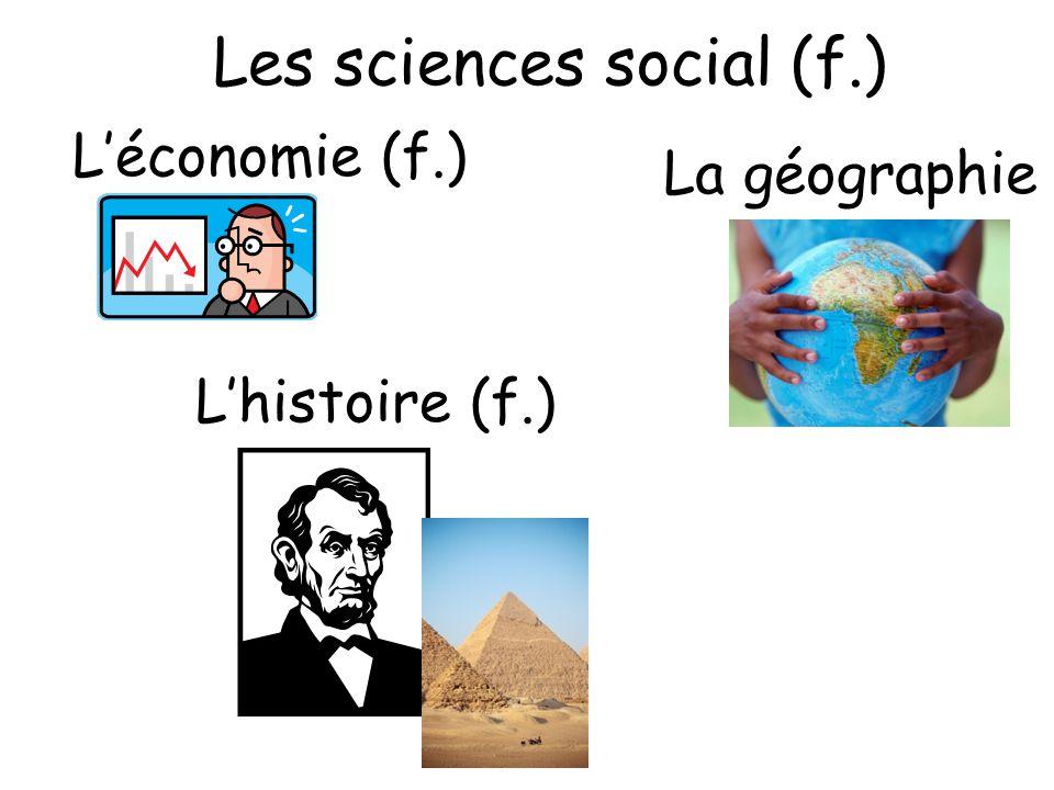 Les sciences social (f.)