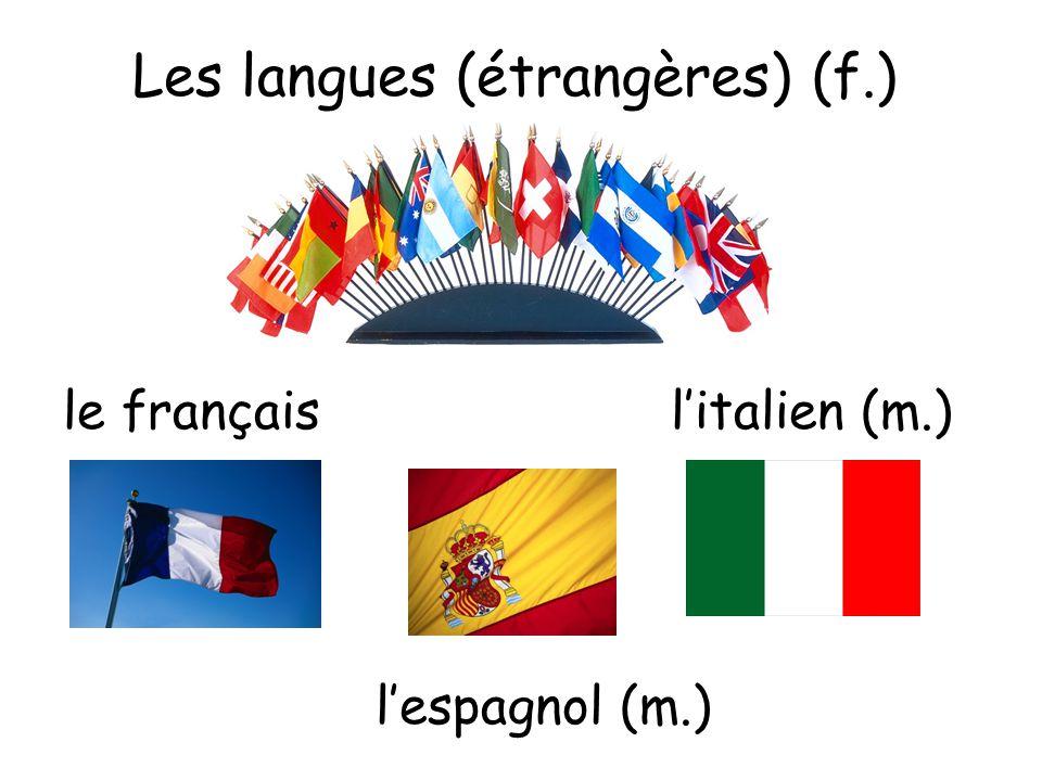 Les langues (étrangères) (f.)