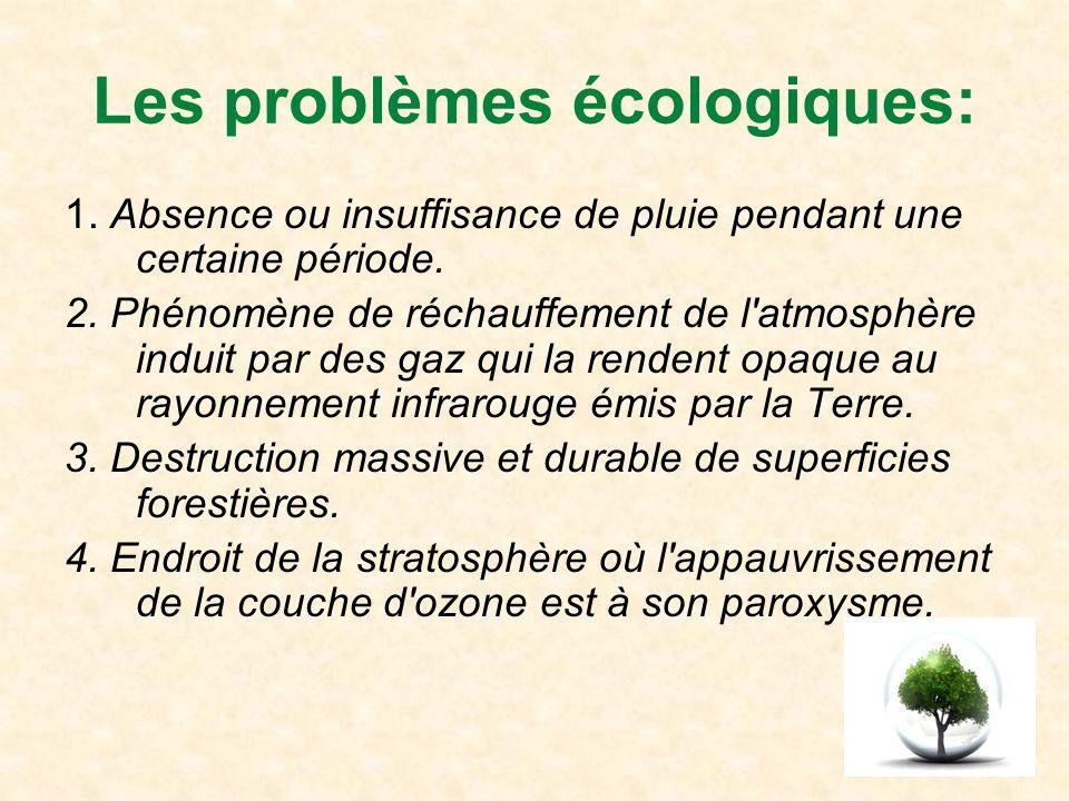 Les problèmes écologiques: