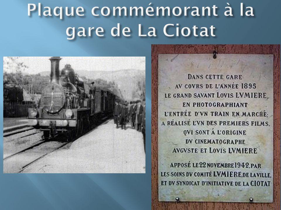 Plaque commémorant à la gare de La Ciotat