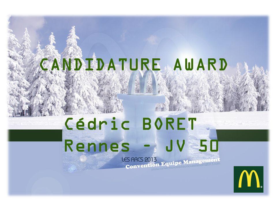 CANDIDATURE AWARD Cédric BORET Rennes – JV 50