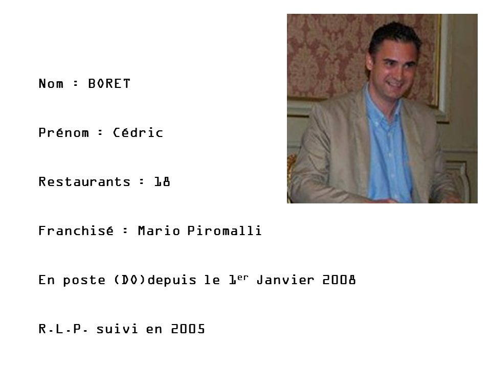 Franchisé : Mario Piromalli