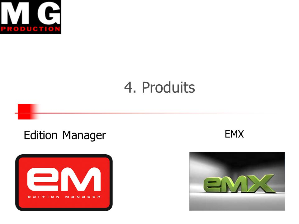 4. Produits Edition Manager EMX