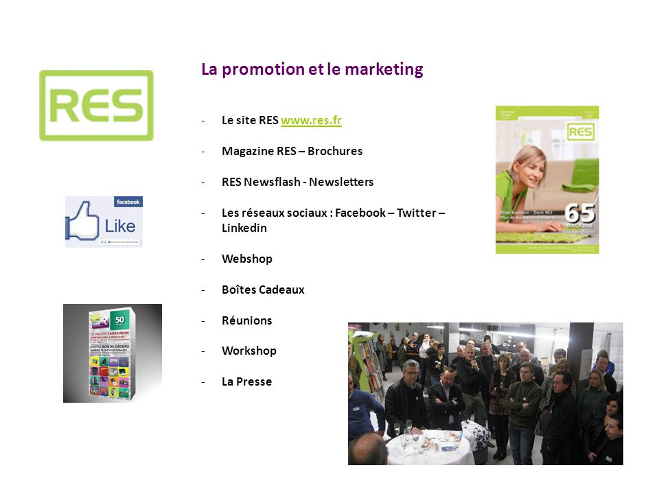 La promotion et le marketing