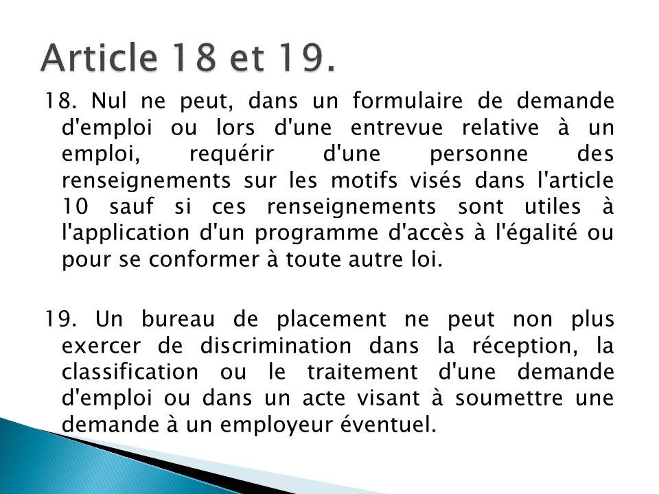 Article 18 et 19.