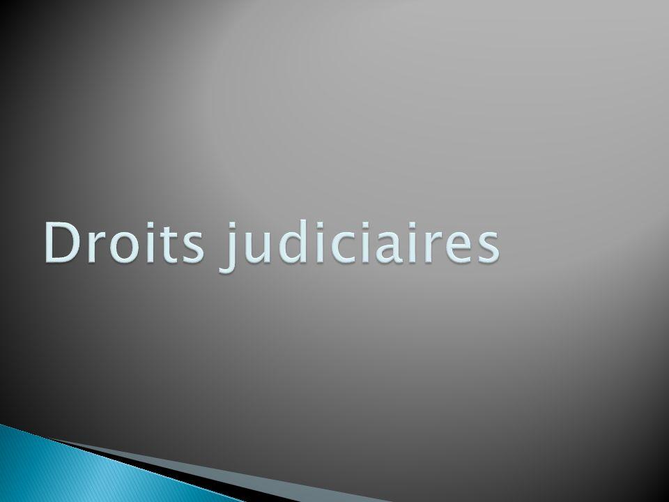 Droits judiciaires