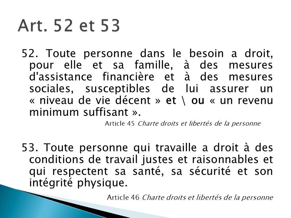 Art. 52 et 53
