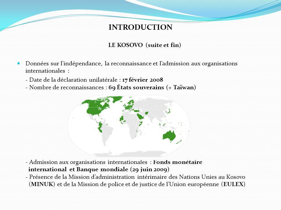 INTRODUCTION LE KOSOVO (suite et fin)