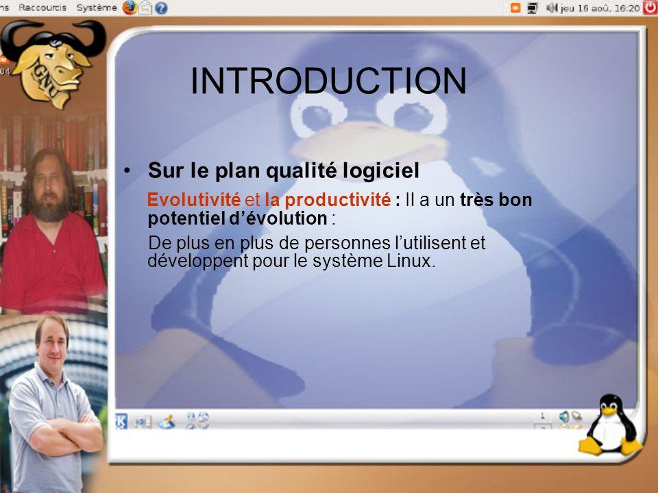 INTRODUCTION Sur le plan qualité logiciel