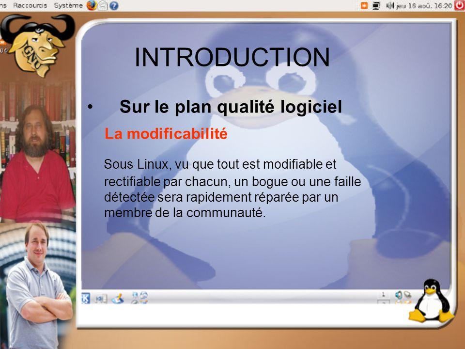 INTRODUCTION Sur le plan qualité logiciel La modificabilité.