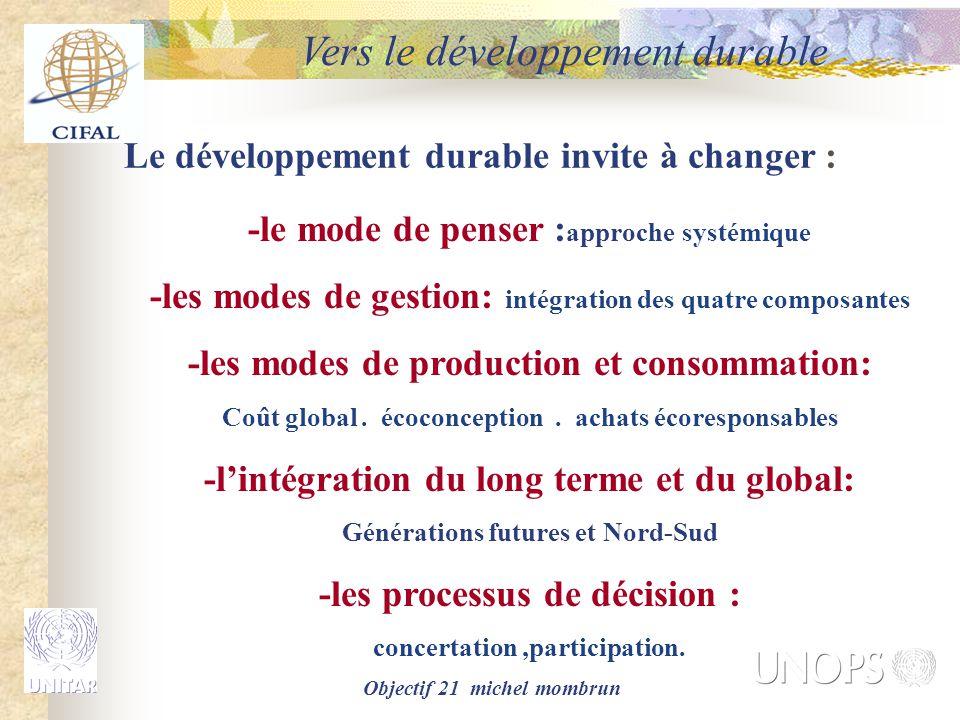Vers le développement durable