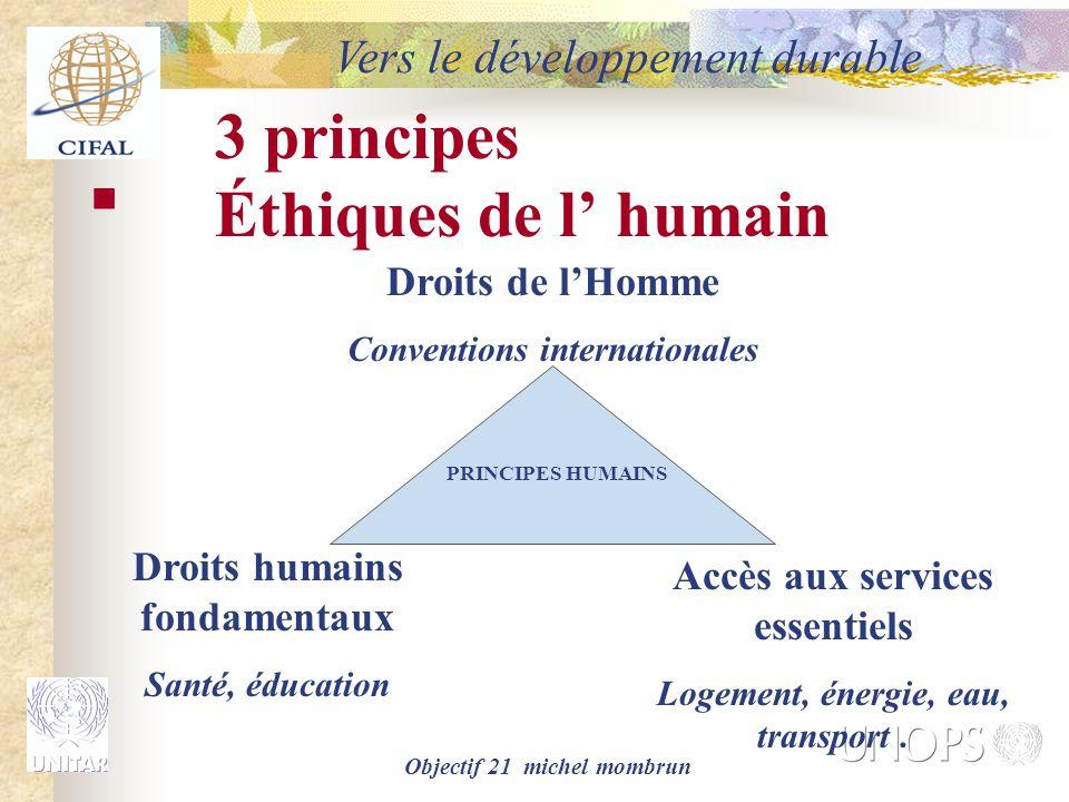 3 principes Éthiques de l' humain
