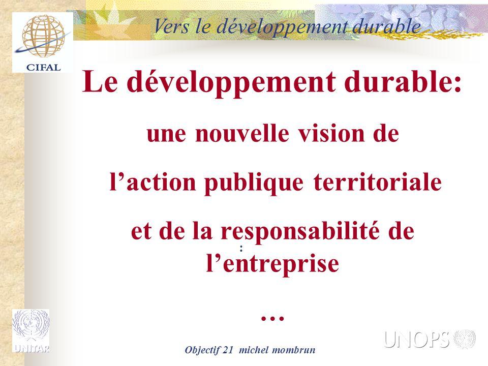 Le développement durable: