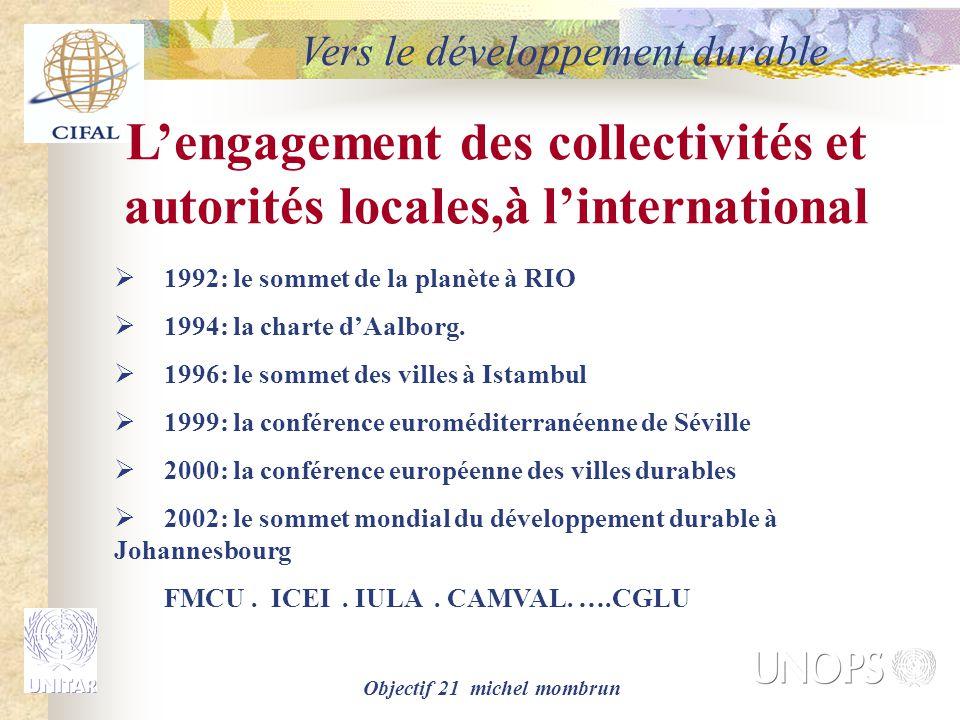 L'engagement des collectivités et autorités locales,à l'international