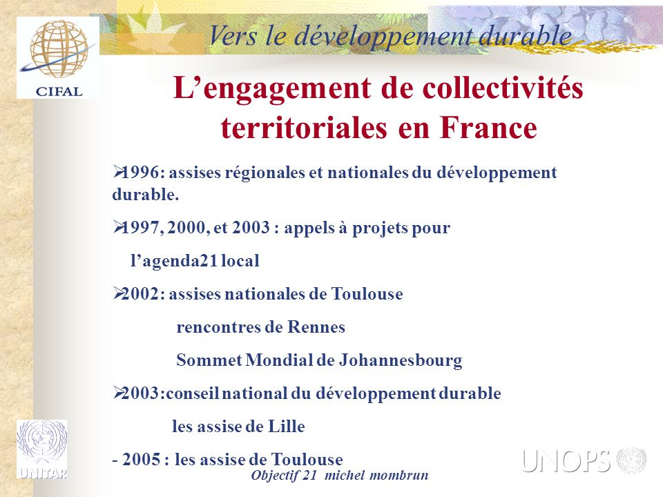 L'engagement de collectivités territoriales en France