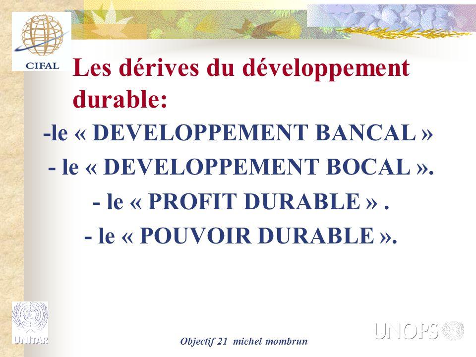 Les dérives du développement durable: