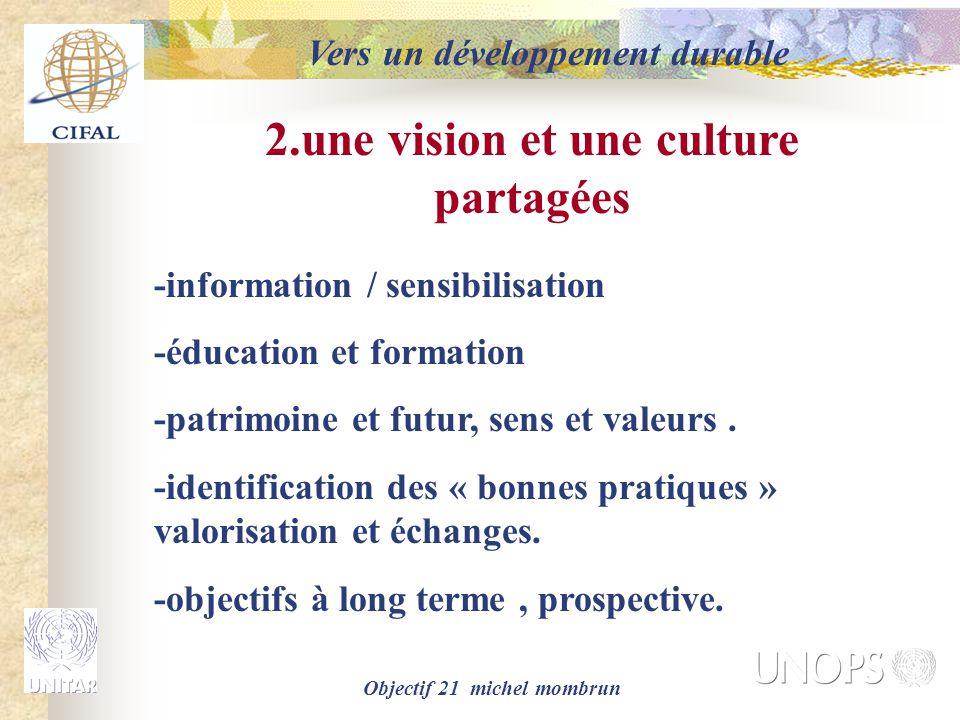 2.une vision et une culture partagées