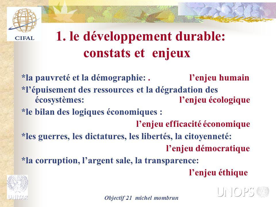 1. le développement durable: constats et enjeux