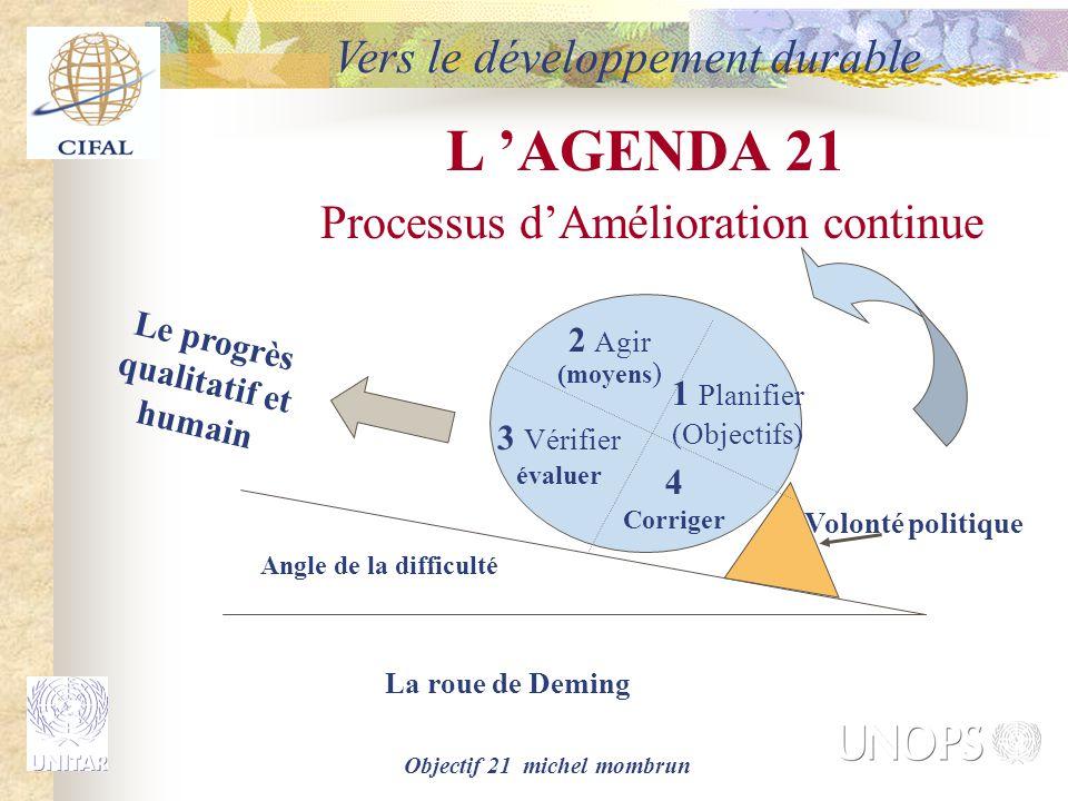 Objectif 21 michel mombrun Le progrès qualitatif et humain