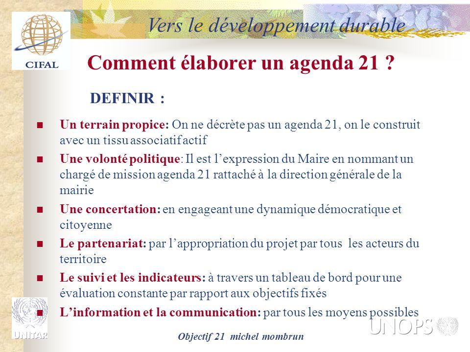Comment élaborer un agenda 21