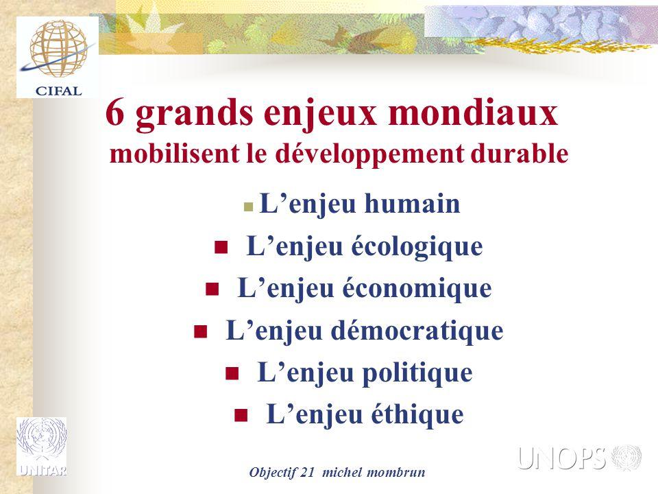 6 grands enjeux mondiaux mobilisent le développement durable