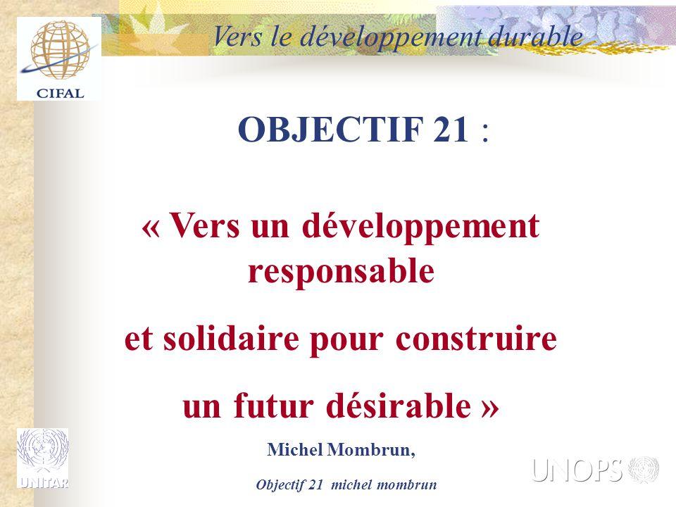 « Vers un développement responsable et solidaire pour construire