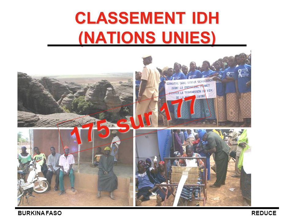 CLASSEMENT IDH (NATIONS UNIES)
