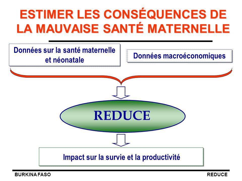ESTIMER LES CONSÉQUENCES DE LA MAUVAISE SANTÉ MATERNELLE