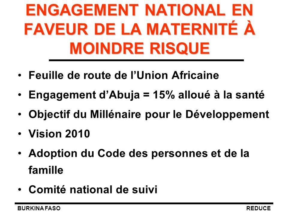 ENGAGEMENT NATIONAL EN FAVEUR DE LA MATERNITÉ À MOINDRE RISQUE