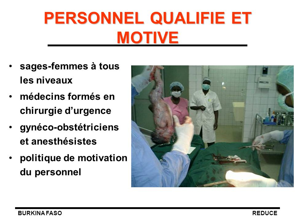 PERSONNEL QUALIFIE ET MOTIVE