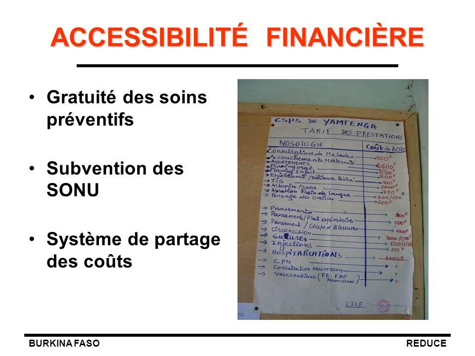ACCESSIBILITÉ FINANCIÈRE